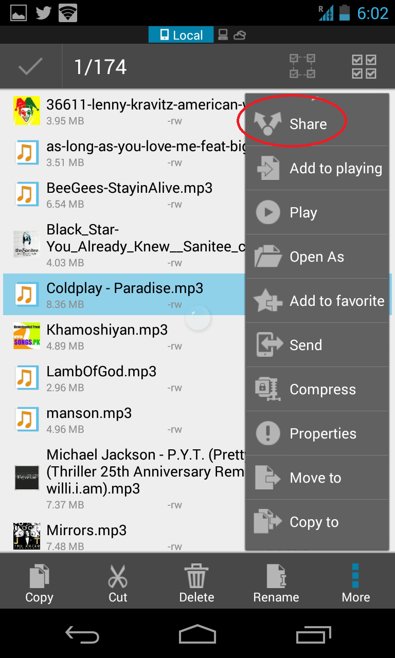 share files between android devices