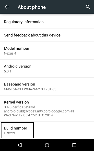 Android 5.0.1 Update for Nexus 4