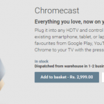Google Chromecast now available in Google play India